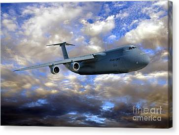 Flight Of The Galaxy Canvas Print by Olivier Le Queinec