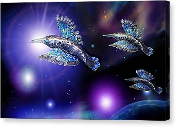 Flight Of The Silver Birds Canvas Print by Hartmut Jager
