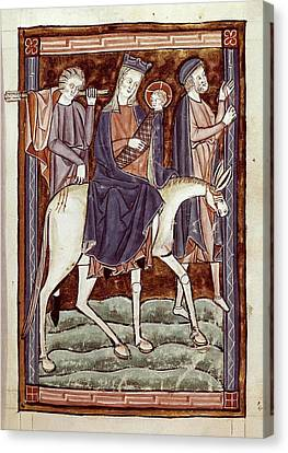 Flight To Egypt, Episode From The New Canvas Print by Everett
