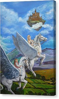 Flights Of Fancy Canvas Print by Bryan Bustard
