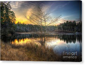 Flint Creek Sundown Canvas Print