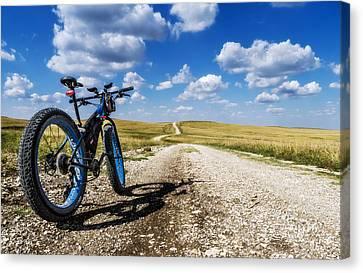 Flint Hills Fall Fatbike Ride Canvas Print