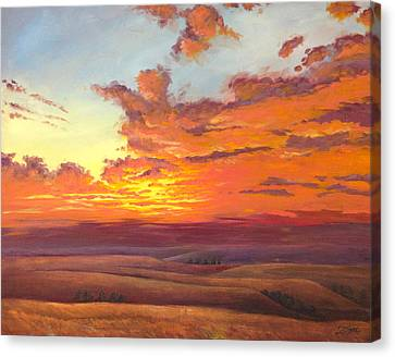 Flint Hills Magic Canvas Print by Rod Seel