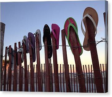 Flip Flop Lost And Found Canvas Print by Kristopher Schoenleber