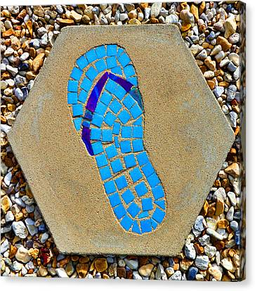 Square Flip Flop Stepping Stone Two Canvas Print