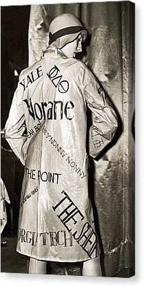 Cloche Hat Canvas Print - Flippant Flapper Rain Slicker by Underwood Archives