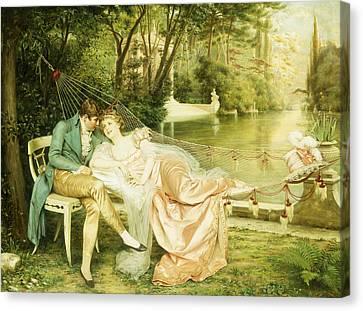 Flirtation  Canvas Print by Joseph Frederick Charles Soulacroix