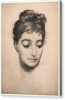 Félix Bracquemond French, 1833 - 1914. Portrait Canvas Print by Litz Collection