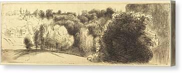 Félix Bracquemond French, 1833 - 1914 Canvas Print by Quint Lox