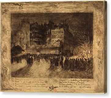 Martyr Canvas Print - Félix-hilaire Buhot French, 1847 - 1898, La Place Des by Quint Lox