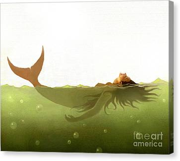 Floater Canvas Print by Robert Foster