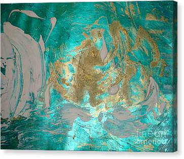 Canvas Print featuring the painting Floating 1 by Fereshteh Stoecklein