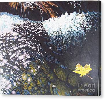 Floating By Canvas Print by Devon Featherstone