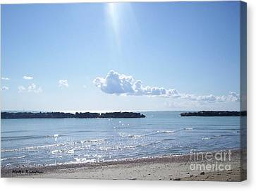 Canvas Print featuring the photograph Floating Clouds by Ramona Matei