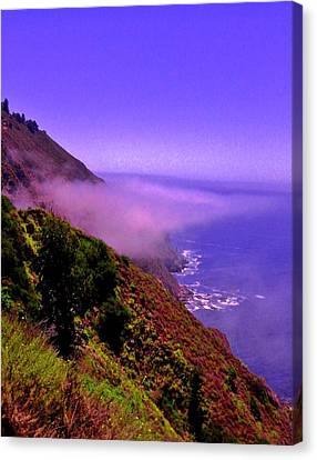Floating Fog Canvas Print by Sharon Costa