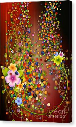 Floating Fragrances - Red Version Canvas Print by Bedros Awak