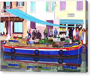 Floating Grocery Store Canvas Print by Mike Robles