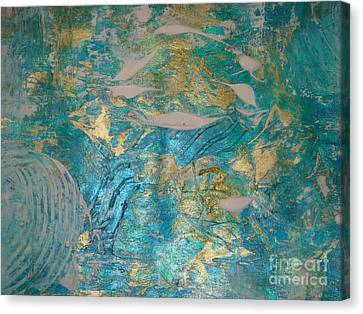 Canvas Print featuring the painting Floating II by Fereshteh Stoecklein