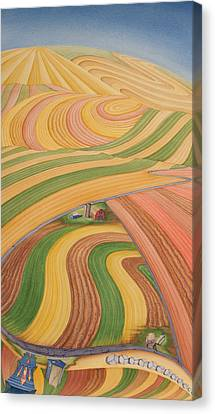 Floating Over Fields I Canvas Print by Scott Kirby