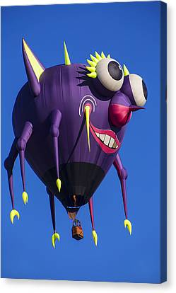Air Travel Canvas Print - Floating Purple People Eater by Garry Gay