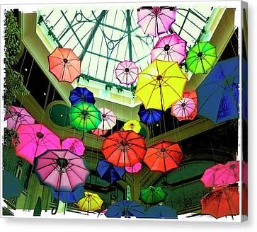 Floating Umbrellas In Las Vegas  Canvas Print by Susan Stone