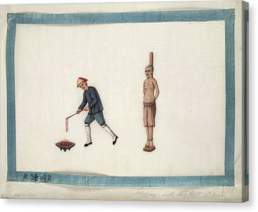 Flogging With Red Hot Chain Canvas Print by British Library