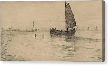 Flood At Katwijk, Carel Nicolaas Storm Van S-gravesande Canvas Print