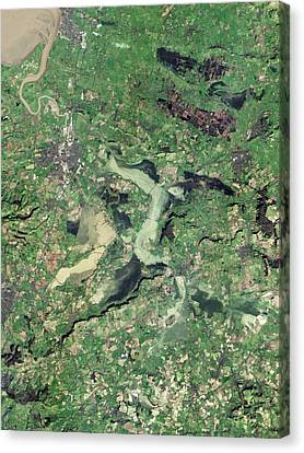 Flooded Somerset Levels Canvas Print