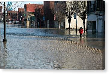 Flooded Street Canvas Print by Jim West