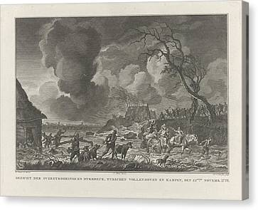 Flooding Between Vollenhove And Kampen, 1776 The Netherlands Canvas Print by Quint Lox