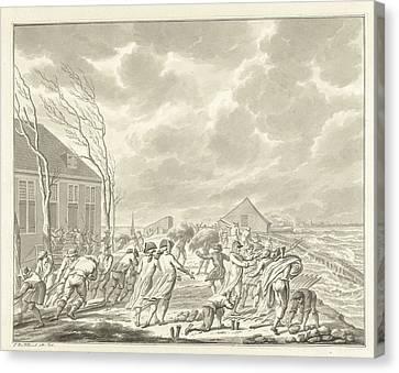 Flooding Diemerzeedijk In Amsterdam The Netherlands Canvas Print by Quint Lox