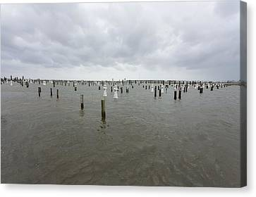Flooding Due To Hurricane Isaac Canvas Print by Science Photo Library