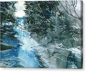 Floods 3 Canvas Print by Anil Nene