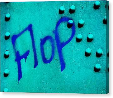 Flop In Blue Canvas Print by Randi Kuhne