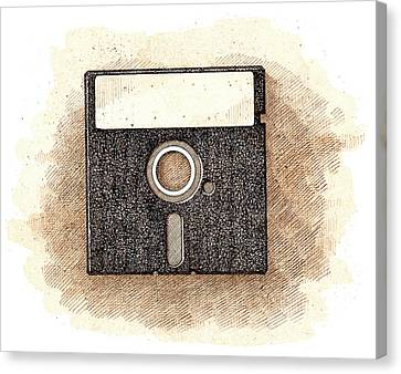 Floppy Disk Canvas Print by Dan Nelson