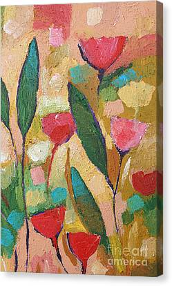 Flora Abstraction Canvas Print