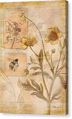 Flora Bumble Bee Canvas Print by Paul Brent