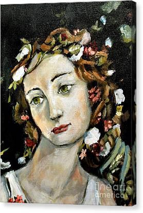 Flora Detail Canvas Print by Carrie Joy Byrnes