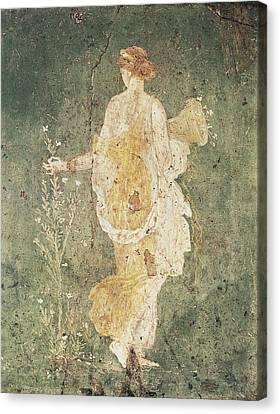 Flora, Goddess Of Spring. 1st C. Bc Canvas Print