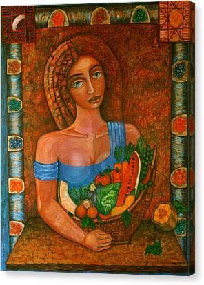 Flora - Goddess Of The Seeds Canvas Print