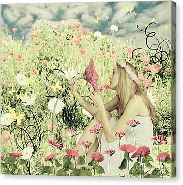 Flora Canvas Print by Linda Lees