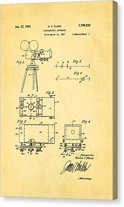 Flora Zoom Cinema Camera Patent Art 1931 Canvas Print by Ian Monk