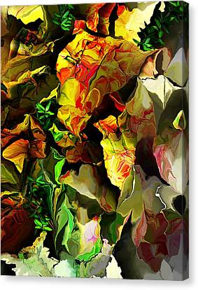 Canvas Print featuring the digital art Floral 082114 by David Lane