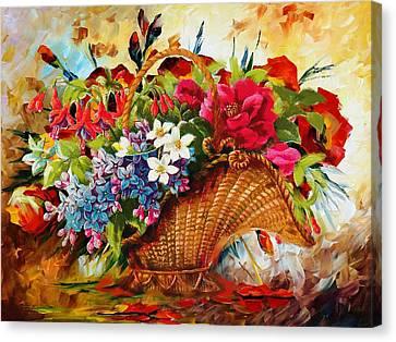 Floral 11 Canvas Print by Mahnoor Shah