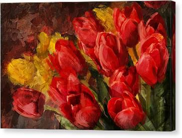 Floral 12b Canvas Print by Mahnoor Shah