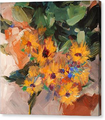 Floral 15b Canvas Print by Mahnoor Shah
