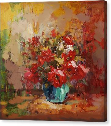 Floral 16b Canvas Print by Mahnoor Shah