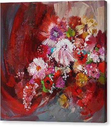 Floral 18 Canvas Print by Mahnoor Shah