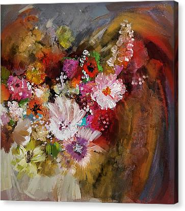 Floral 18b Canvas Print by Mahnoor Shah