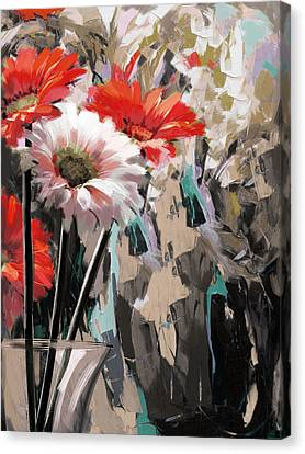 Floral 5 Canvas Print by Mahnoor Shah